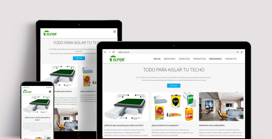 diseño sitio web telpor